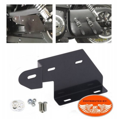 Kit mounting bracket Single Sided leather bag for Dyna Harley Davidson (Not incuded)