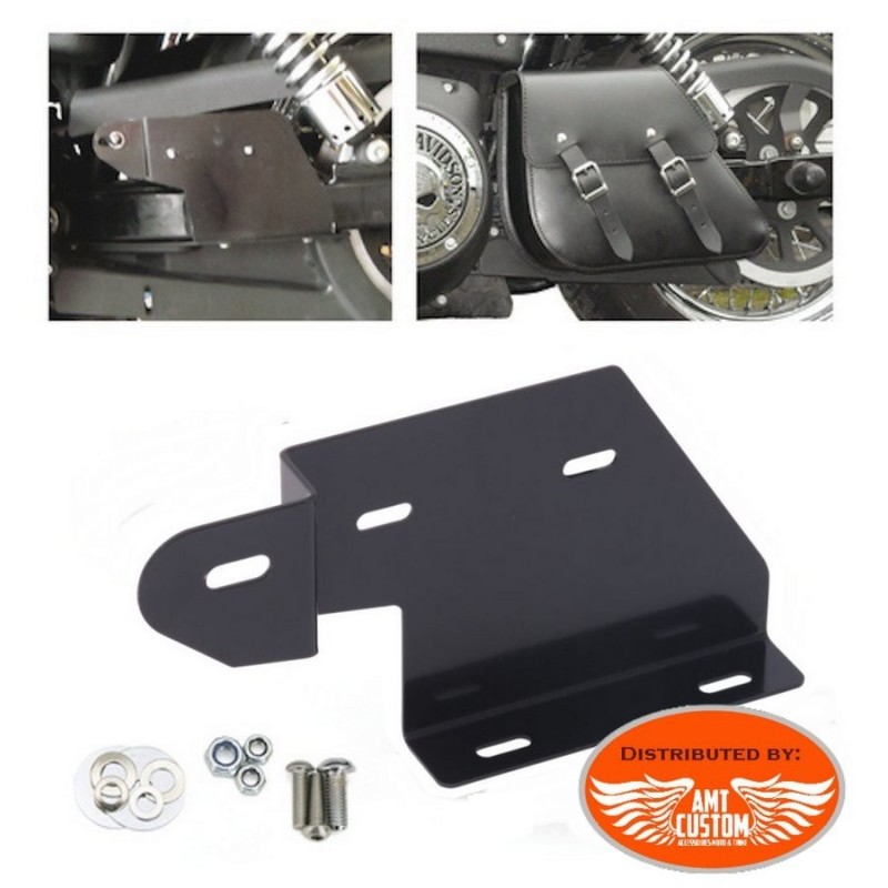 Kit mounting Support for Single sided bag Swingarm Bag for Harley Dyna