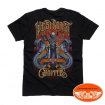 Tee-shirt noir biker west coast choopers moto skull serpents