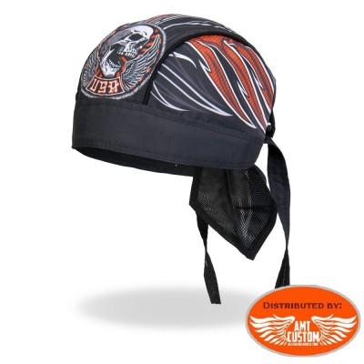 Zandana biker skull ailé USA