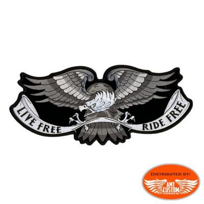 Patch écusson aigle Live free Ride free