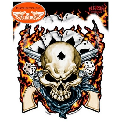 stickers skull class act decal motorcycle