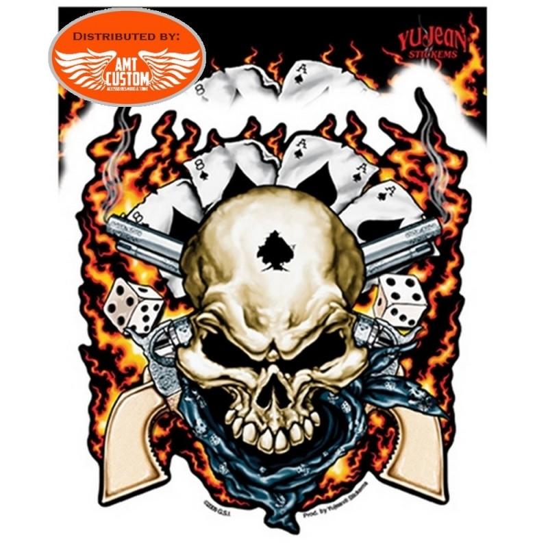 Sticker skull homme mort