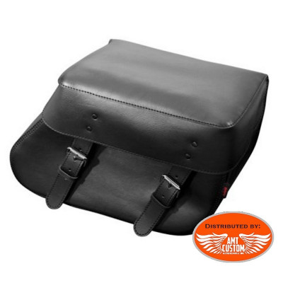 2 black tek leather saddlebags biker Florida