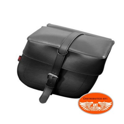 2 black tek leather saddlebags biker Las Vegas