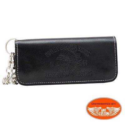 Biker indian leather wallet King Kerosin