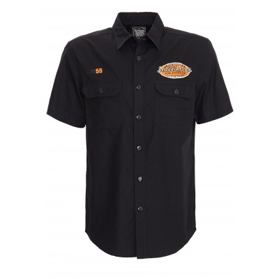 Black shirt king kerosin with orange embroidery Hot Rod