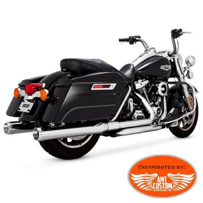 Touring Mufflers Chrome DAYTONA 400 SLIP-ONS for Harley Davidson