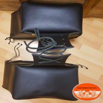 2 black tek leather saddlebags biker Florida
