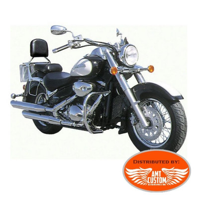 Suzuki C800 Intruder et Volusia Pare-cylindre Chrome - Pare jambes Intruder 38 mm