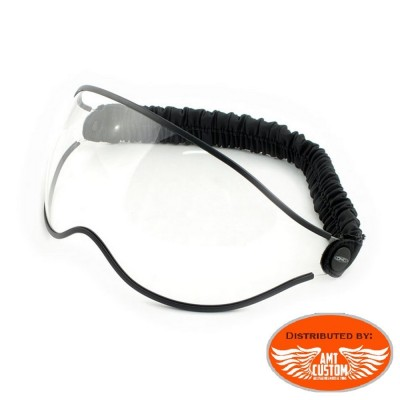 DMD helmet smoke biker glasses
