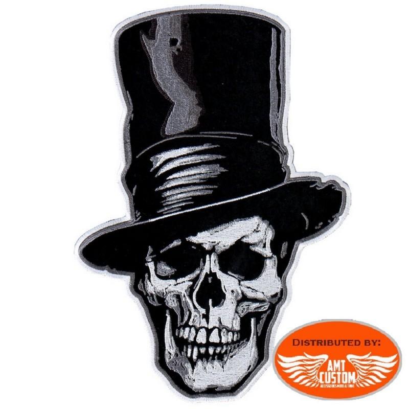 Patch écusson Tête de mort chapeau haut de forme