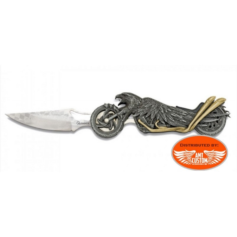 Couteau lampe aigle moto