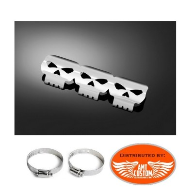 Universal exhaust heat shield Skull Chrome