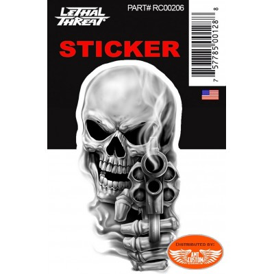 Sticker Skull wings decal motorcycle