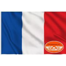 Drapeau National France Grand Format Moto Trike