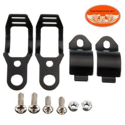 Attache Clamps Support Noir Clignotants Indicateurs de direction