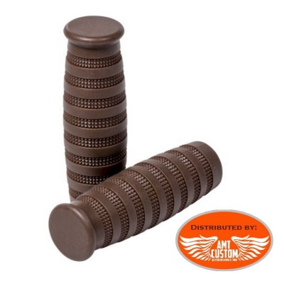 "Brown Vintage Street Grips 25mm (1"") or 22mm (7/8"") Bobbers Old Skool"
