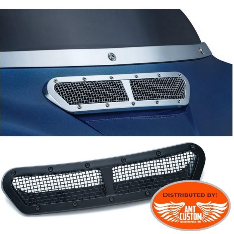 Touring Enjoliveur grille carénage chrome ou noir pour Harley Electra Glide, Street Glide et Tri Glide