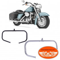 Chrome or Black Fat engine guards Harley Street Glide, Electra Glide, Road King, Tri Glide