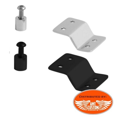 Chrome or Black Mounting kit for Solo Rack Custom Bobber Motorcycles