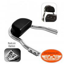 Sportster Sissy Bar Court Chrome pour Harley XL883 et XL1200