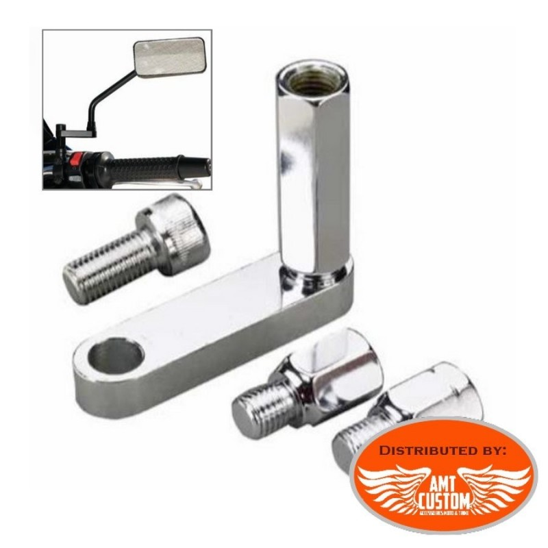 Chrome Kit Mirror extension adaptateur included motorcycles