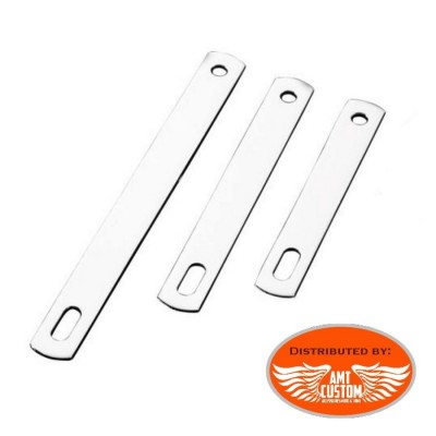 Chrome Exhaust Mount bracket flat