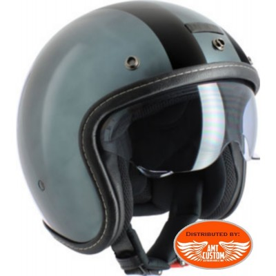 Casque Jet Challenge Chrome 2 Bandes