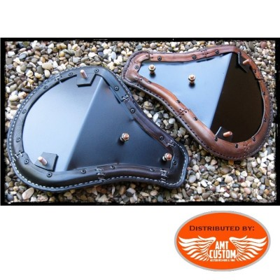 Installation fixing Brown Solo Seat Skull Custom for Choppers Bobbers Harley