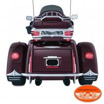 Tri Glide Mud Flaps Ornament rear fender for Trike Harley FLHTCUTG Tri Glide Ultra