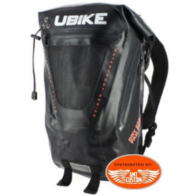 Backpack UBIKE Waterproof Cylindrical 50L Black