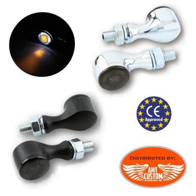 Mini Clignotants feu de position Avant LED Apollo Classic noirs ou chrome Avant