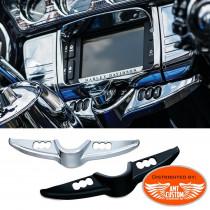 Touring enjoliveur Switch entourage chrome ou noir pour Harley Touring et Tri Glide