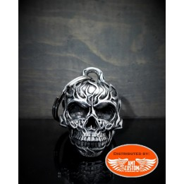Flame Skull Diamond Bell