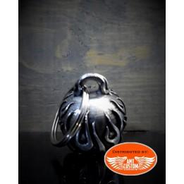 Flame Skull Diamond Bell