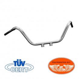 "Harley Chrome Solid Custom handlebar 32mm (1""1/4) Sportster Dyna Softail"