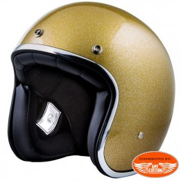 Casque Stormer Demi Jet Pearl or paillette