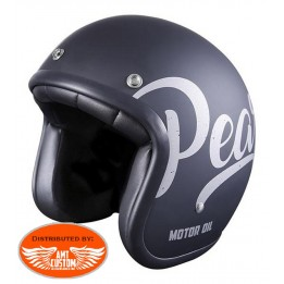 Stormer Helmet Demi Jet Pearl Brakin black and white