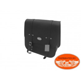Dyna Single sided bag black leather for Harley Davidson Dyna