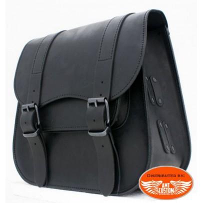 Ledrie black leather frame bag
