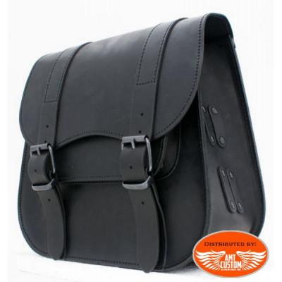 Sacoche de cadre simple en cuir noir Ledrie