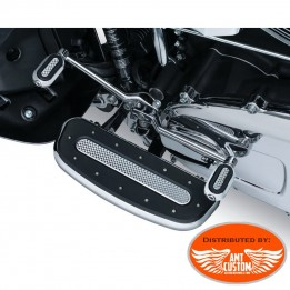 Harley Driver chrome Floorboard fit Touring Softail Dyna