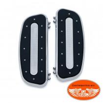 Détail Plateformes Platines marche pieds chrome pour Pilote Touring Softail Dyna