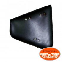 Installation mount Softail Black Leather swingarm bag triangular custom leather motorcycle studs