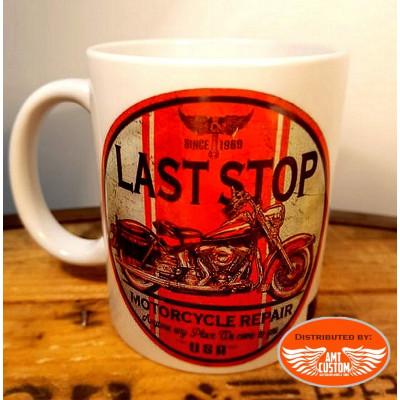 Ceramic biker mug Route 66