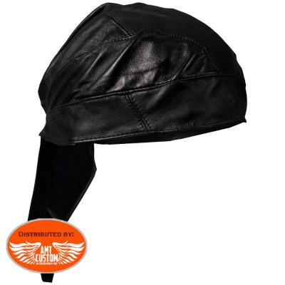 Zandana biker cuir noir uni