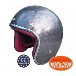 Grey glitter ECE Approved Helmet biker motorcycle