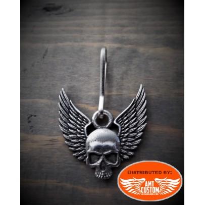 Tirette Zip skull ailé