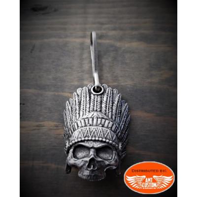 Tirette Zip Skull Indien
